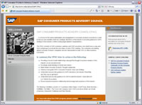 SAP Consumer Products Advisory Council